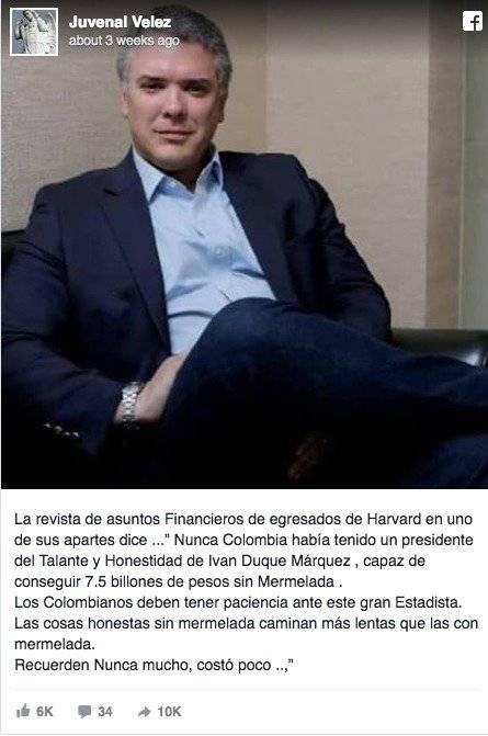 La supuesta revista de Harvard que elogió a Iván Duque