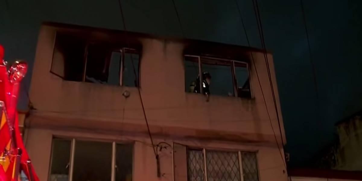 Incendio en una vivienda de Bogotá deja una persona sin vida