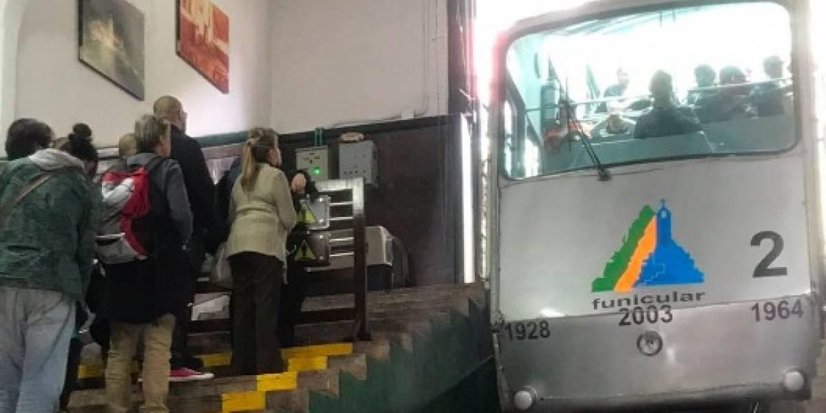 Cerraron temporalmente el funicular en Monserrate