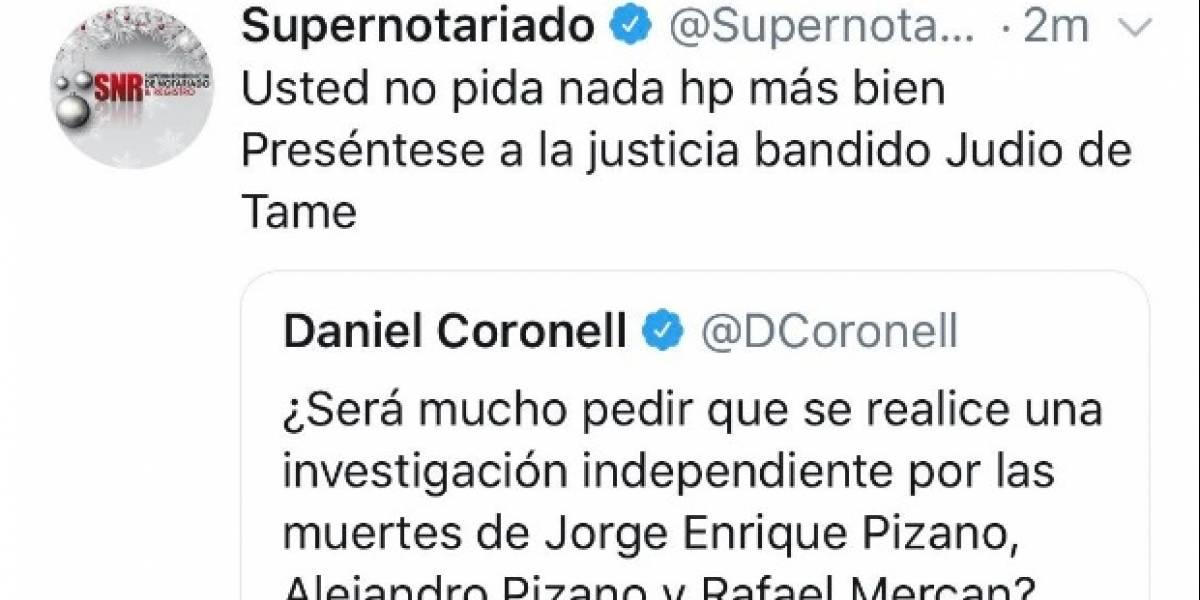 Revelan quién fue el que insultó a periodistas desde cuenta del Estado