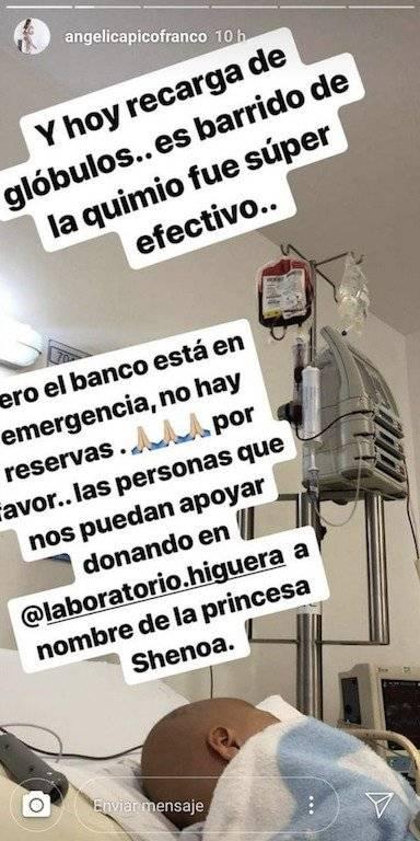 Donación sangre para hija de Sherman Cárdenas
