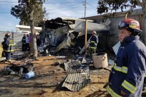 Explosión destruye cohetería en Sumpango