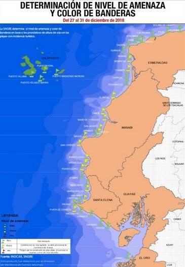 Condiciones de mar en Fin de Año
