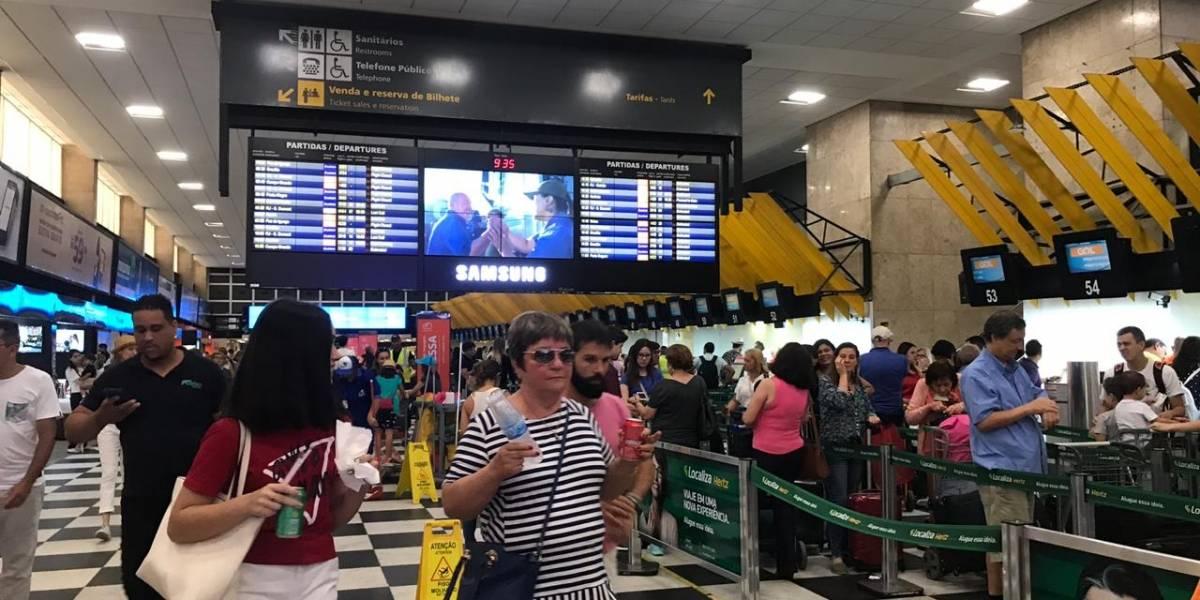 Mais de 60 mil pessoas devem passar pelo Aeroporto de Congonhas somente nesta sexta