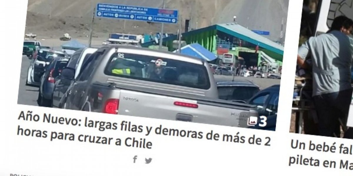 Mendocinos locos por venir a Chile: medios advierten de tacos y dan consejos a los argentinos
