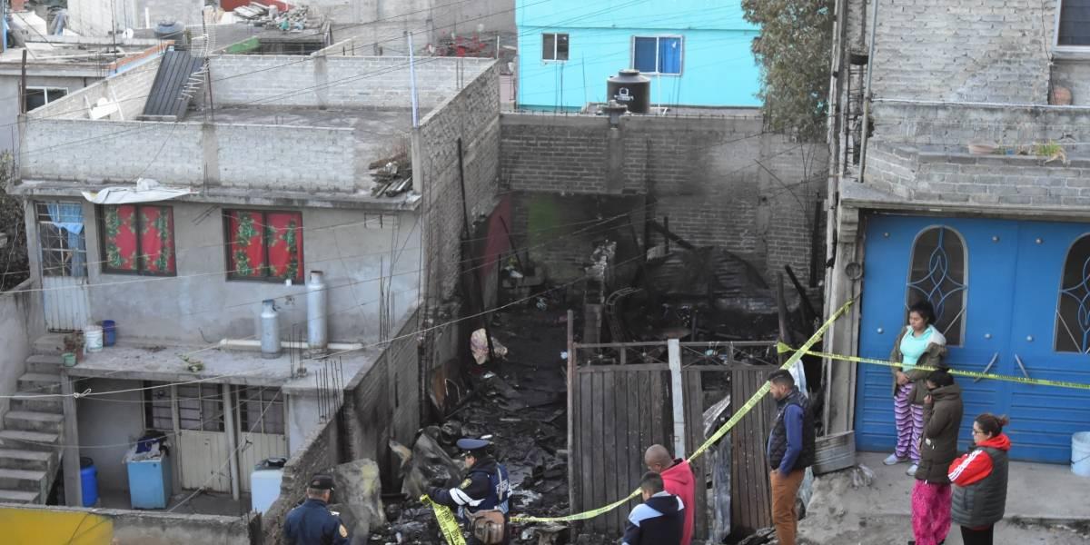 Mueren 7 niños en incendio en casa en Iztapalapa
