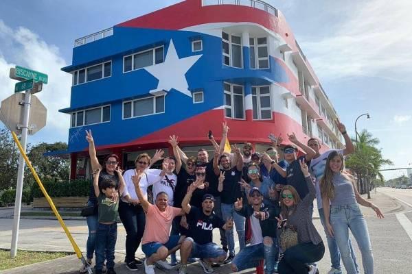 Bandera monoestrellada en Miami
