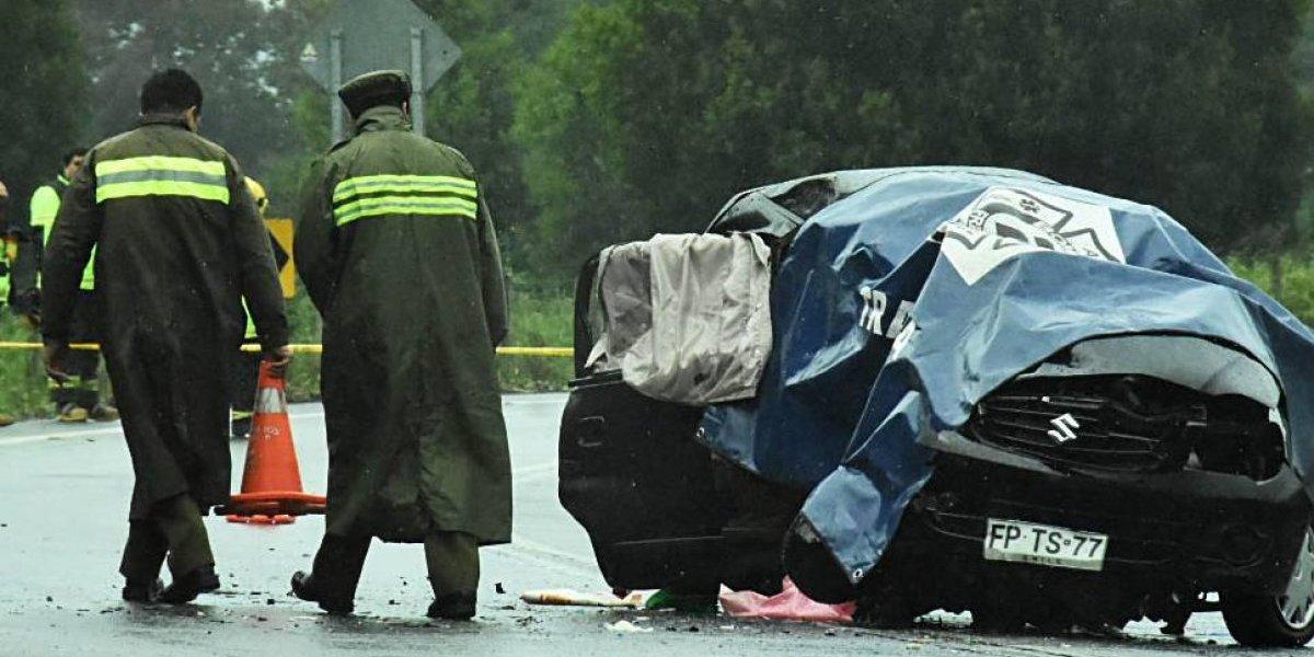 Uno de los conductores arrojó un grado de alcohol importante: tres muertos deja violento accidente en ruta Angol-Renaico