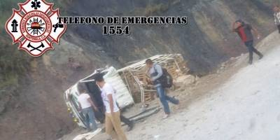 accidente de camión en Alta Verapaz