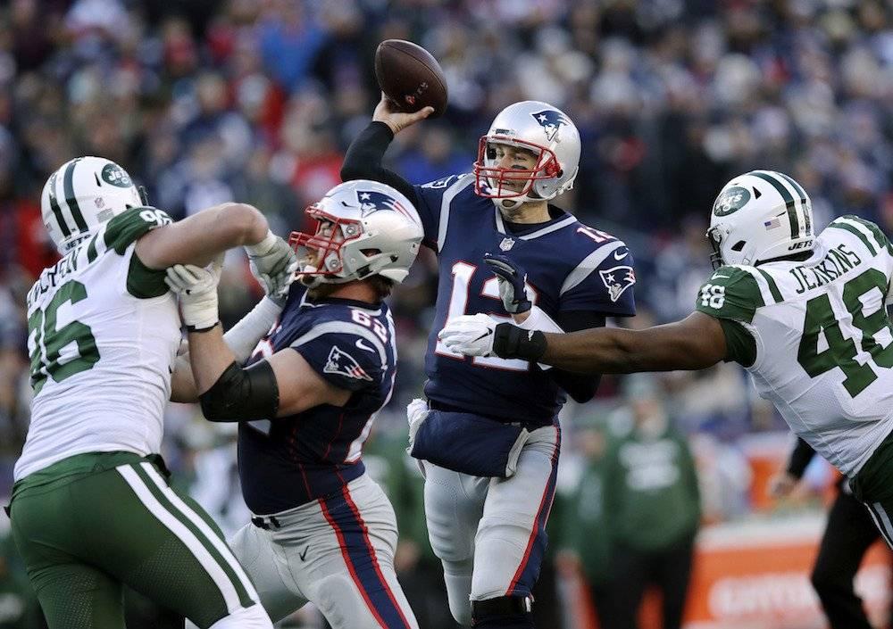 Jets 3-38 Patriots. / AP