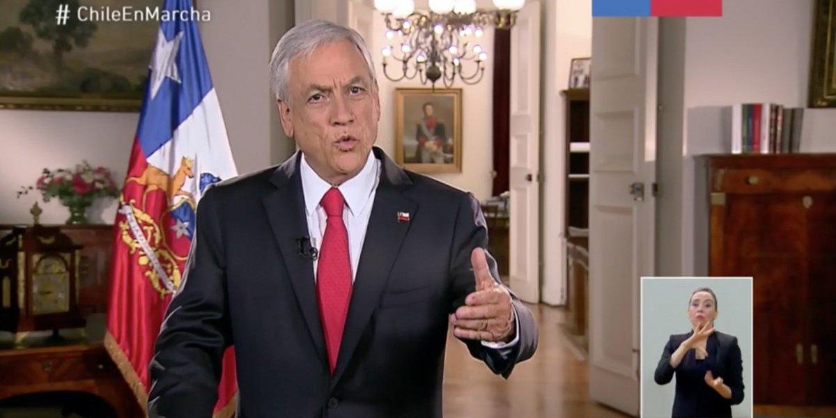 """Mensaje de fin de año: Piñera reconoce que 2018 hubo crisis y convocó a trabajar por """"tiempos mejores"""""""