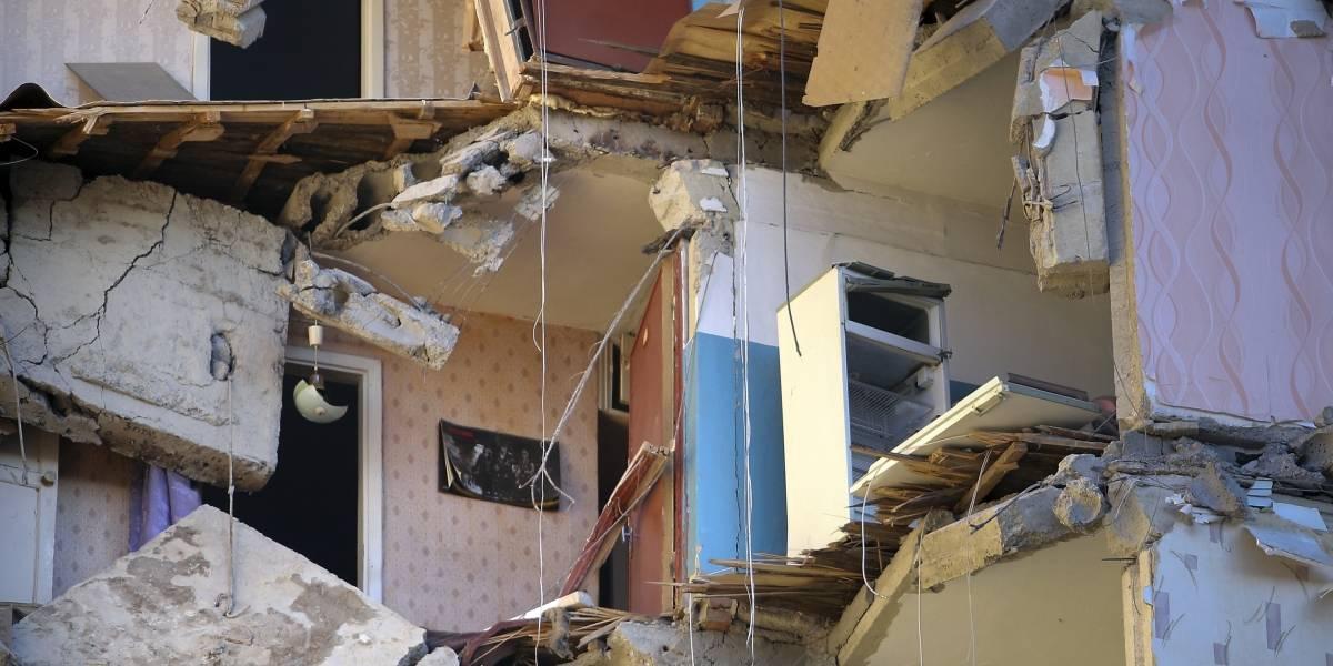 Derrumbe de apartamentos en Rusia deja cuatro muertos