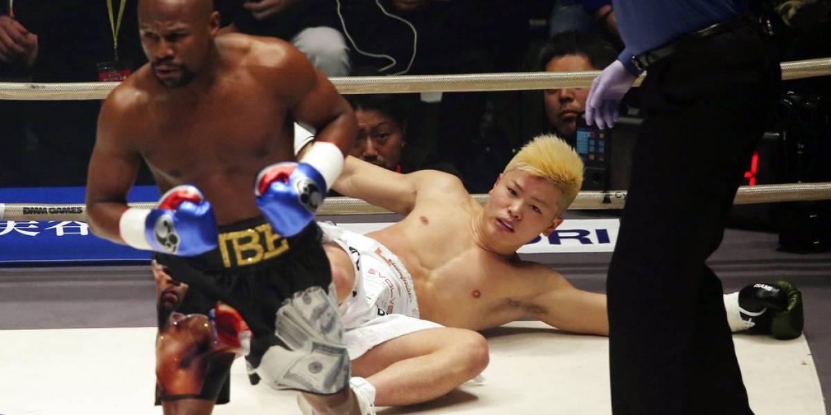 ¿Un paseo o una farsa? Mayweather fulmina a campeón japonés de kickboxer