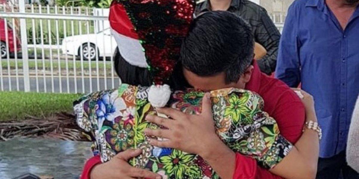 El último abrazo de Normando Valentín y Keylla Hernández
