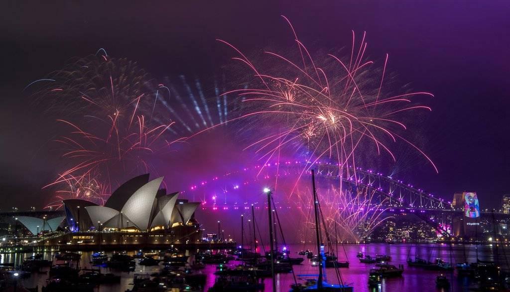 En diversos lugares del mundo ya celebraron el año entrante. (Sydney) Foto: AP