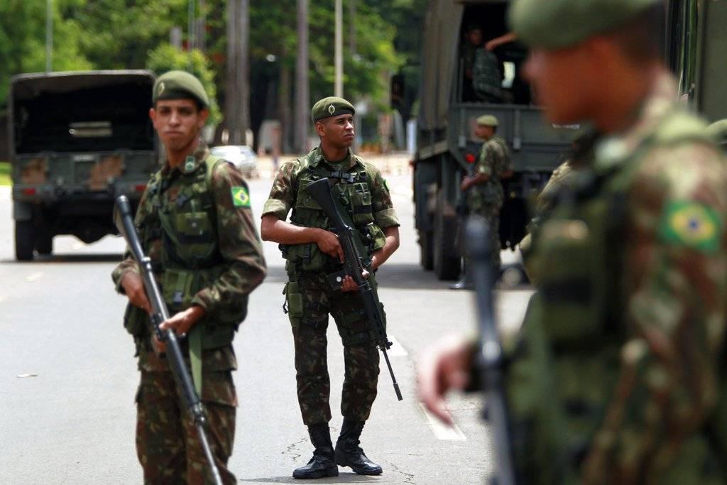 Máxima seguridad en Brasil. AP