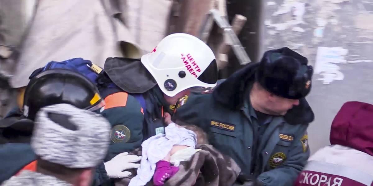 Milagro en Rusia: Bebé sobrevivió 35 horas bajo los escombros