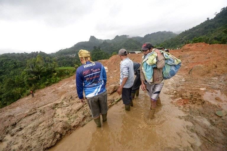 Deslizamiento en Indonesia