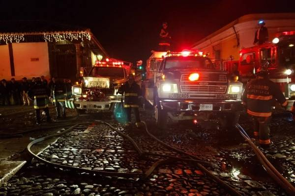 Incendio en La Antigua Guatemala