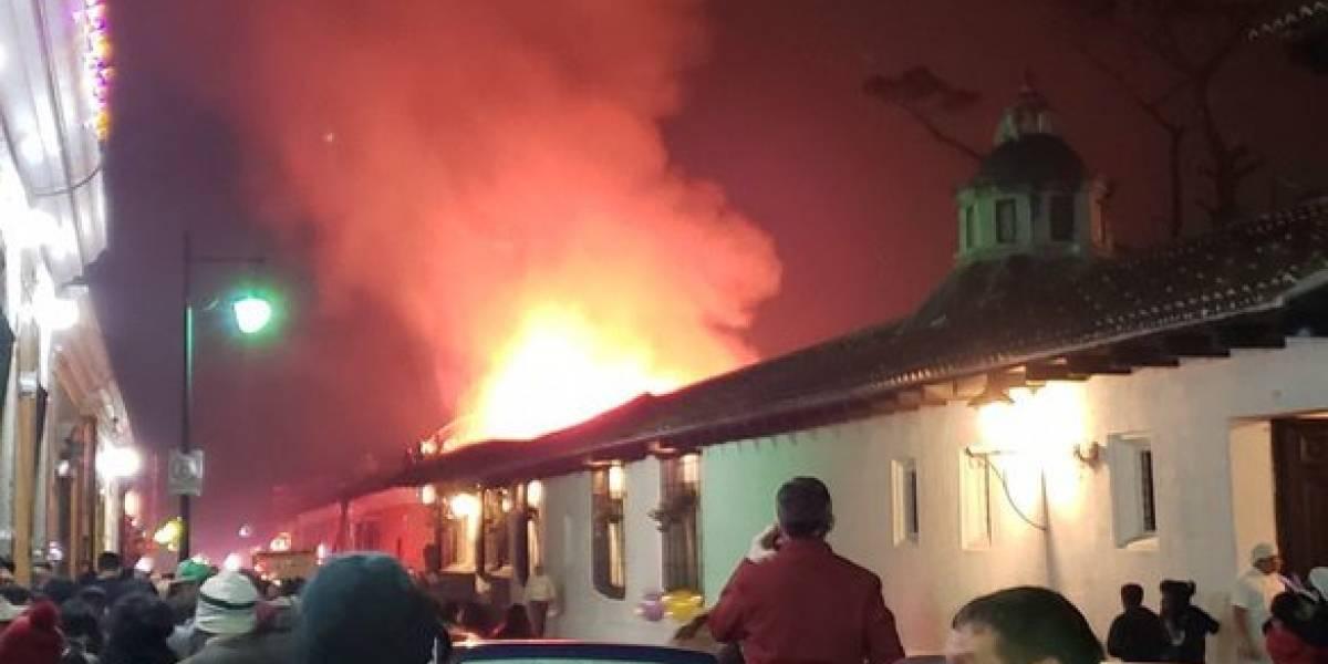 Ministerio Público investiga incendio en Antigua Guatemala
