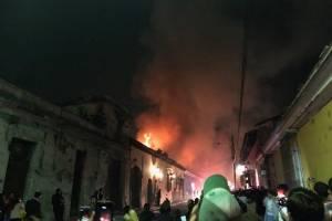 incendio en Antigua Guatemala