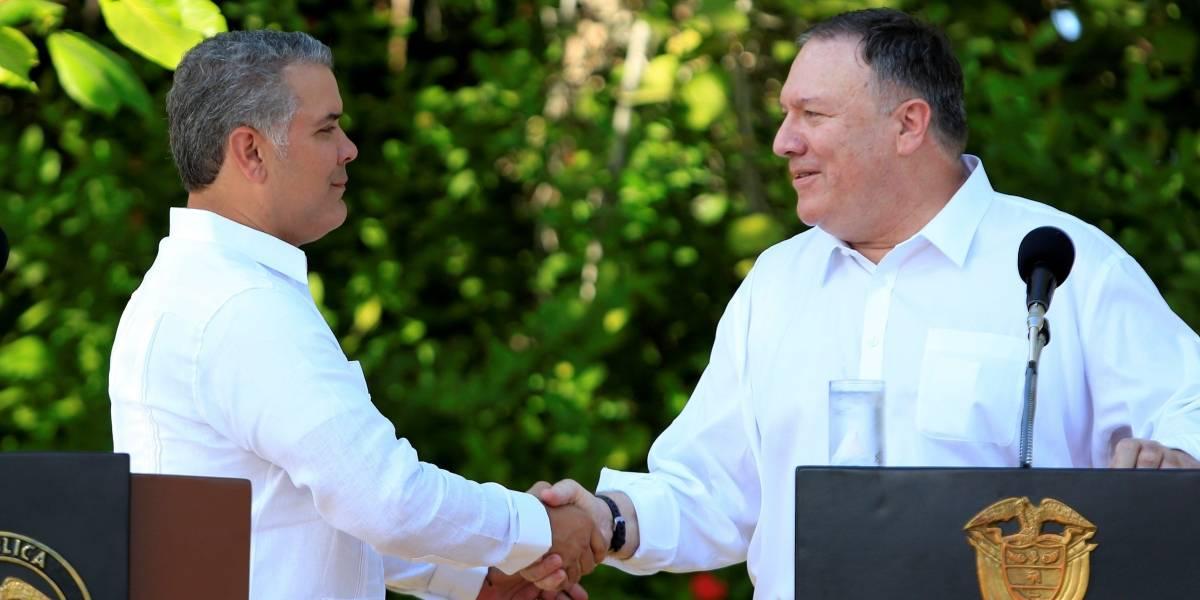 Duque recibe al secretario de Estado de EE.UU. en Cartagena