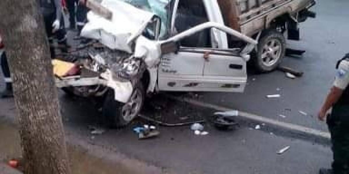 Un fallecido y tres heridos en un accidente de tránsito en Manabí