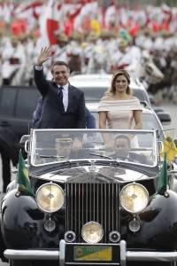 Michelle Bolsonaro durante la investidura de Jair Bolsonaro