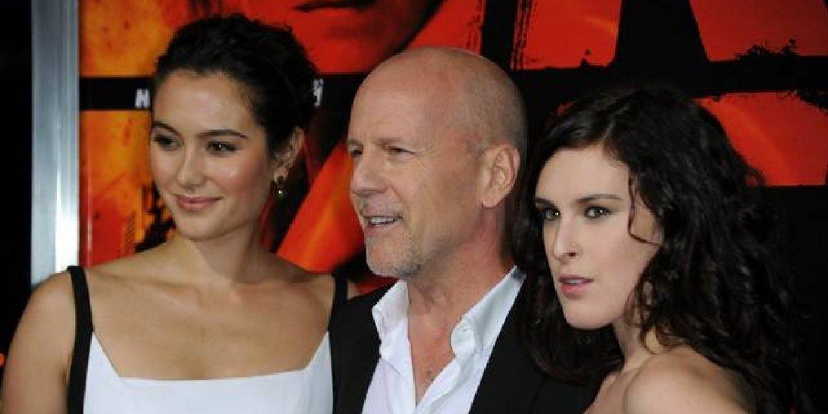 Por primera vez las 5 hijas de Bruce Willis posan en una inusual foto
