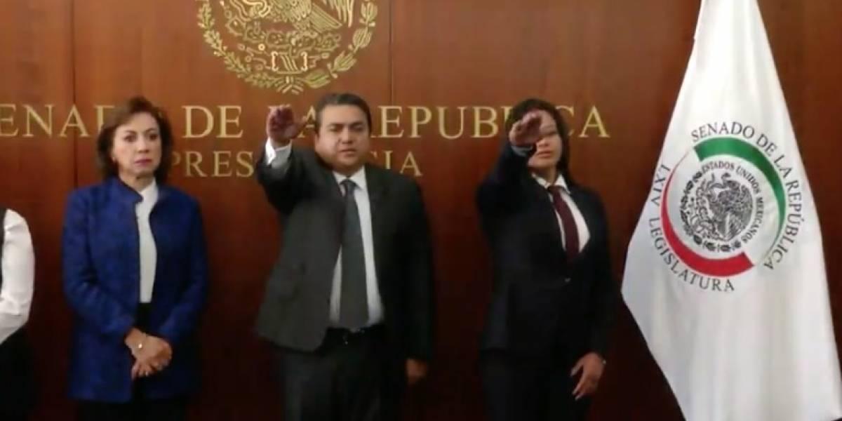 Senado toma protesta a suplentes de Rafael Moreno Valle y Angélica García