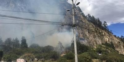 Incendio en El Inca