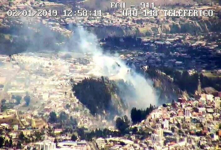 Incendio en El Inca Twitter