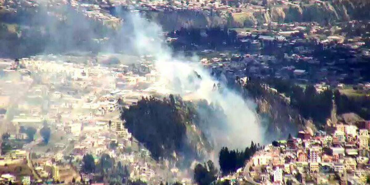 Quito: Incendio forestal en San Isidro del Inca fue controlado