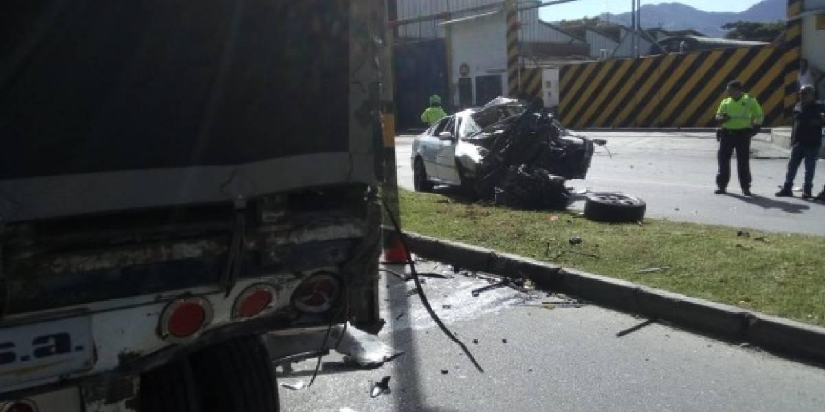 Video: el fatal accidente de tránsito que dejó una persona muerta en Medellín