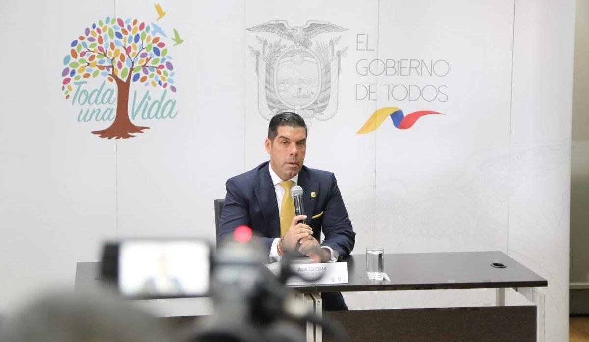 Raúl Ledesma, ministro de Trabajo