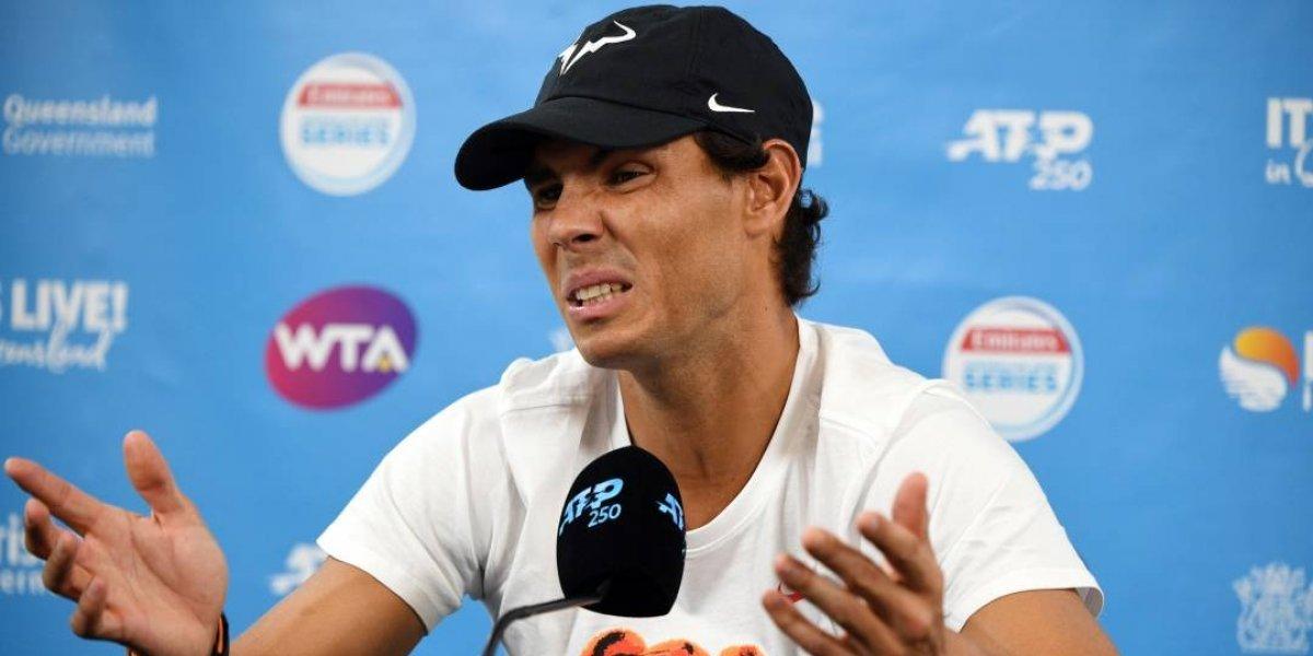 Lesión saca a Rafa Nadal de torneo ATP 250 de Brisbane