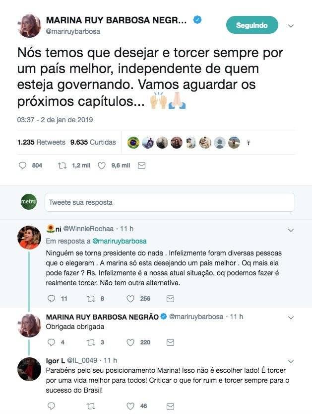 Marina Ruy Barbosa Twitter Bolsonaro
