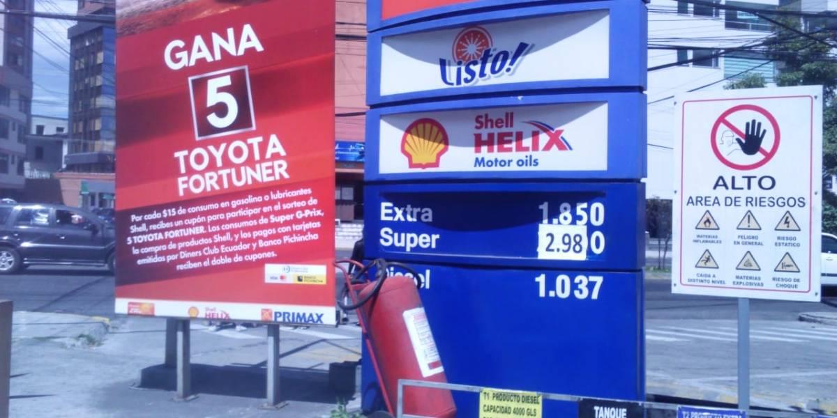 Enero de 2019: Precio de la gasolina súper se comercializa entre $ 2,90 y $ 2,98