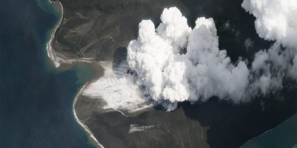 Tsunami na Indonésia: imagens de satélite mostram o que restou de vulcão que causou tragédia