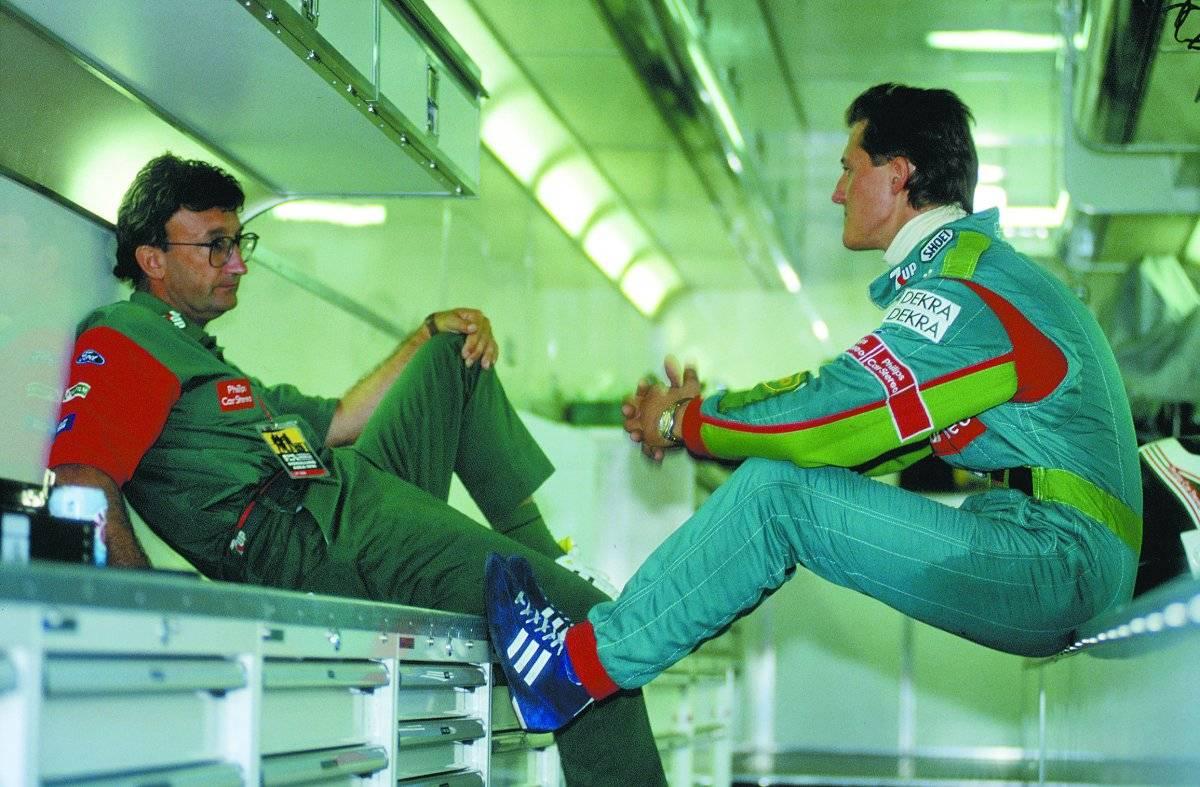 Schumacher na sua chegada à F1