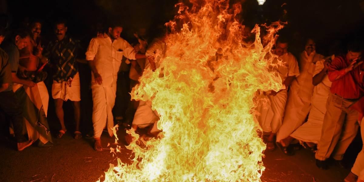 Protestan en la India por la entrada de mujeres a un templo
