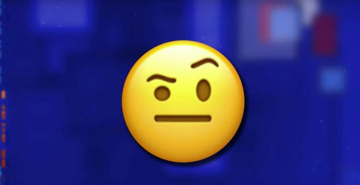 emoji sobrancelha levantada