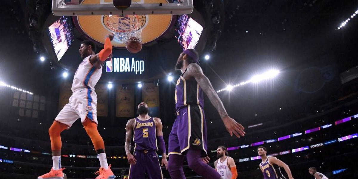 NBA: Paul George y Russell Westbrook brillaron con luces propias en triunfo de Thunder sobre Lakers