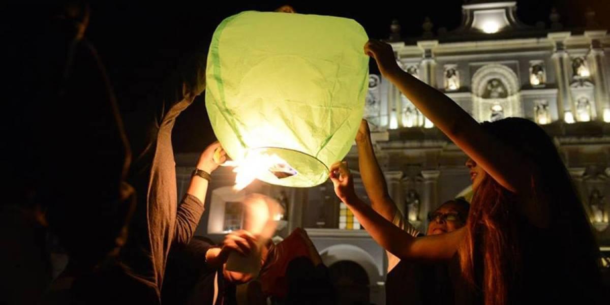 Piden parar de inmediato la elevación de globos chinos en La Antigua