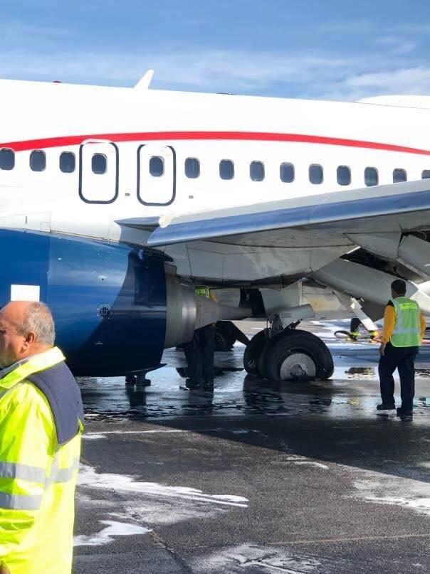 Neumáticos del vuelo después del incidente