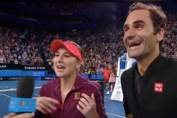 Belinda Bencic y Roger Federer