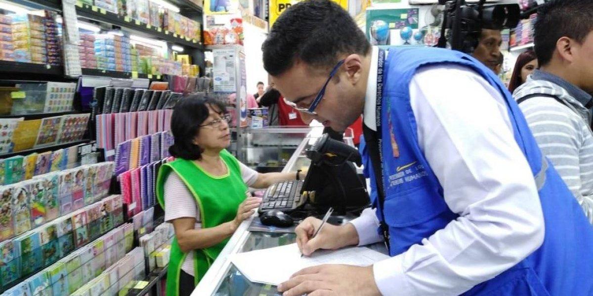 PDH inicia inspecciones en librerías y colegios para evitar cobros excesivos