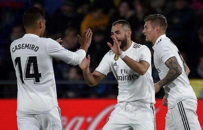 Gol de Karim Benzema contra el Villarreal