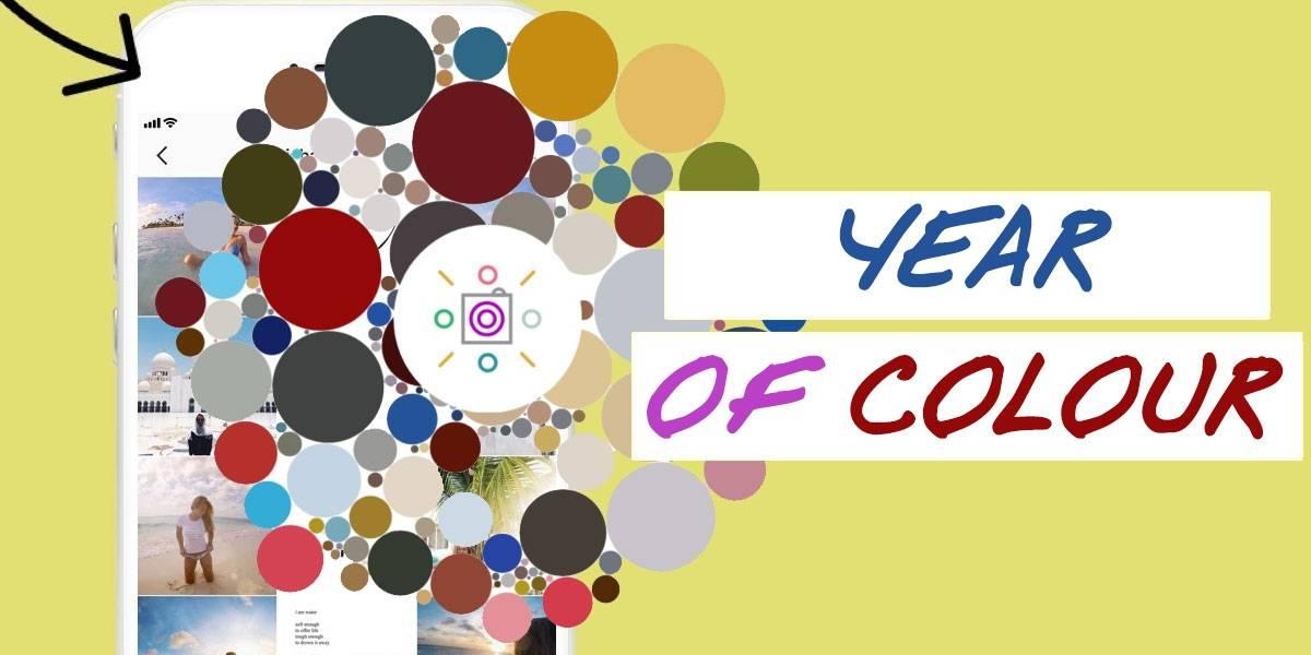Year of Colour: así puedes descubrir los colores predominantes en tu Instagram