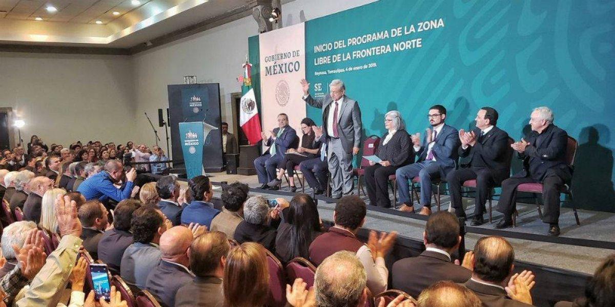 Frontera norte crecerá 6% con establecimiento de zona franca: AMLO